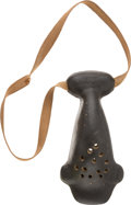 Football Collectibles:Others, Turn-of-the-Century Football Nose Mask. ...