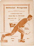 Football Collectibles:Programs, 1927 Green Bay Packers vs. Cleveland Bulldogs Program - Only 4,500 in Attendance!...