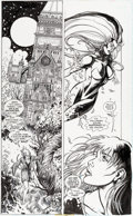 Original Comic Art:Panel Pages, Joyce Chin and Andy Lanning Superman: Silver Banshee #2Story Page 22 Original Art (DC, 1999)....