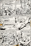 Original Comic Art:Panel Pages, Jack Kirby and Mike Royer Kamandi, The Last Boy on Earth #4Story Page 9 Original Art (DC, 1...