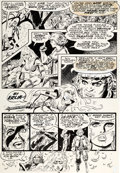 Original Comic Art:Panel Pages, Frank Thorne Marvel Feature V2