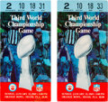 Football Collectibles:Tickets, 1969 Super Bowl III Ticket Stubs Lot of 2. ...