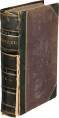 Books, Harper's New Monthly Magazine. New York. Vols. I-XXVII (June1850 through November 1863), lacking only Vol. XIX (June th...