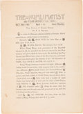 Books, American Numismatic Association. The Numismatist. Miscellaneous early issues: April 1-15, 1891; July and September 1892;...