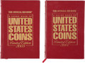 Books, Yeoman, R.S. A Guide Book of United States Coins. 58th (2005) and 60th (2007) editions. Deluxe leather-bound copies, bot...