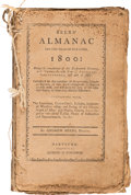 Books, [Almanacs]. Group of Early American Almanacs. Six almanacs, all of them being incomplete or low-grade, as follow...