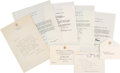 Autographs:U.S. Presidents, Bill Clinton Autograph Letter Signed and Typed Letters (3) Signed ... (Total: 0 Items)