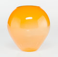 Glass, Dale Chihuly (American, born 1941). Yellow Basket with Blue Lip Wrap, 2000, Portland Press. Blown glass. 7 x 6 x 6-3/8 i... (Total: 2 Items)