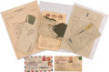 Autographs:Military Figures, Hubert Wilkins Group Including Two Signed Covers Carried on Expeditions and Four Letters....