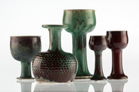 Stig Lindberg (Swedish, 1916-1982) Five Vases, circa 1960 Glazed ceramic 8-1/4 inches (21.0 cm) (