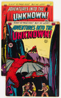 Golden Age (1938-1955):Horror, Adventures Into The Unknown #10 and 12 Group (ACG, 1950).... (Total: 2 Comic Books)