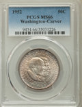 Commemorative Silver, 1952 50C Washington-Carver MS66 PCGS. PCGS Population: (377/25). NGC Census: (289/26). CDN: $120 Whsle. Bid for problem-fre...
