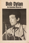 Music Memorabilia:Posters, Bob Dylan Promotional Record Store Display (Columbia Records, 1963). Very Rare....