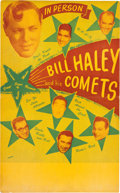 Music Memorabilia:Posters, Bill Haley And His Comets Concert Poster (1950s). Very Rare....