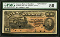 Canadian Currency, Hamilton, ON- Bank of Hamilton $100 1.6.1892 Ch. # 345-16-10SSpecimen PMG About Uncirculated 50.. ...