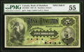 Canadian Currency, Hamilton, ON- Bank of Hamilton $5 1.6.1892 Ch. # 345-16-02S Specimen PMG About Uncirculated 55.. ...