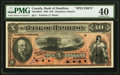 Canadian Currency, Hamilton, ON- Bank of Hamilton $10 1.6.1892 Ch. # 345-16-04S Specimen PMG Extremely Fine 40.. ...