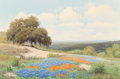 Fine Art - Painting, American, Palmer Chrisman (American, 1913-1984). Bluebonnets and IndianPaintbrushes. Oil on canvas. 24 x 36 inches (61.0 x 91.4 c...