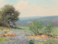 Paintings, Robert William Wood (American, 1889-1979). Springtime in Texas. Oil on canvas. 12 x 16 inches (30.5 x 40.6 cm). Signed l...