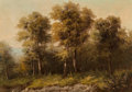 Fine Art - Painting, American, A.D. Greer (American, 1904-1998). Forest Edge. Oil on canvas laid on Masonite. 19 x 27 inches (48.3 x 68.6 cm). Signed l...