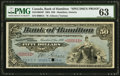 Canadian Currency, Hamilton, ON- Bank of Hamilton $50 1.1.1904 Ch. # 345-18-08spSpecimen Proof PMG Choice Uncirculated 63.. ...