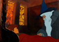 Animation Art:Production Cel, The Lord of the Rings Frodo and Gandalf Production Cel Setupwith Master Background (Bakshi/United Artists, 1978). ...