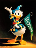 Memorabilia:Disney, Carl Barks Sixty Years Quacking Signed Limited Edition Miniature Lithograph Print #253/595 (Another Rainbow, 1994)...