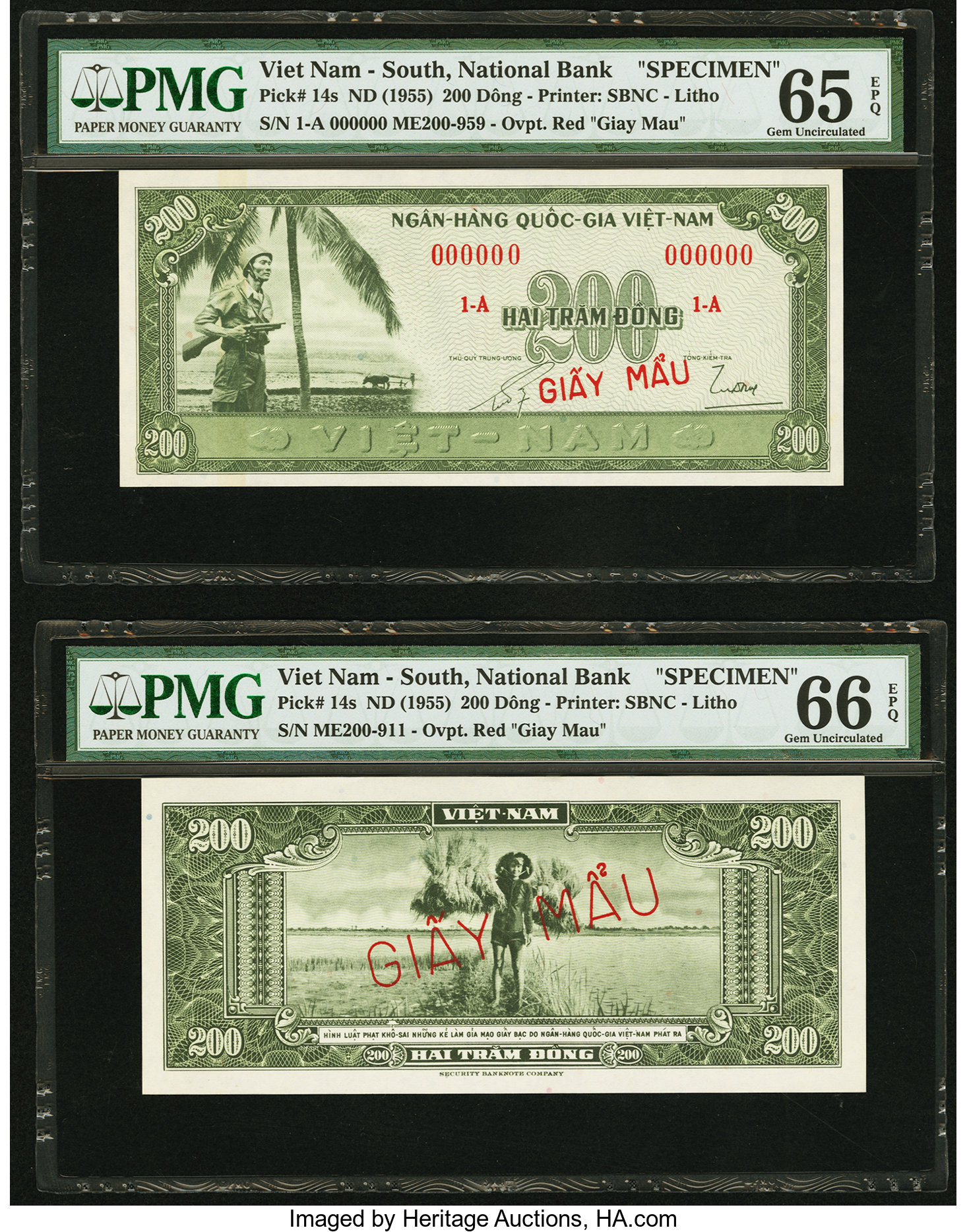 South Vietnam 20 Dong Note  P-24a   UNCIRCULATED