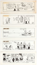Fred Thomas Long Shots, and Good Ol' Bo Tryout Daily Comic Strips Original Art G Comic Art