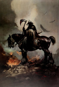 Frank Frazetta Death Dealer Signed Limited Edition Gold Print #73/345 (Paradox Productions, c. 1980s)