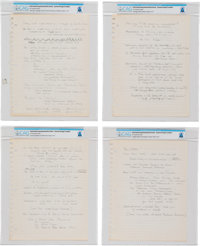 University of Cincinnati: Neil Armstrong's Handwritten Lecture Notes (Eight Pages) and Hand-drawn Diagrams (Nine Pages)...