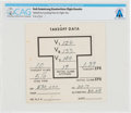 """Explorers:Space Exploration, Aviation: Neil Armstrong Handwritten 747 """"Takeoff Data"""" Card Directly From The Armstrong Family Collection™, Certified and Enc..."""