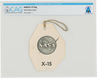 X-15: NASA Logo Tag Directly From The Armstrong Family Collection™, Certified and Encapsulated by Collectibles Aut