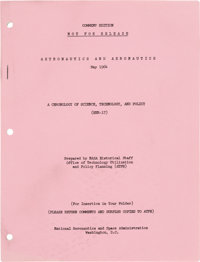 """NASA: """"Astronautics and Aeronautics May 1964"""" Chronology Publication Directly From The Armstrong Family Collec..."""