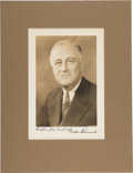 Autographs:U.S. Presidents, Franklin D. Roosevelt Photograph Signed as President....