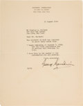 Autographs:Celebrities, George Gershwin Typed Letter Signed. ...