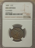 1809 1/2 C -- Cleaned -- NGC Details. Unc. NGC Census: (0/15). PCGS Population: (1/71). CDN: $500 Whsle. Bid for problem...