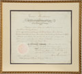 Autographs:U.S. Presidents, James Buchanan Appointment Signed...