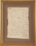 Autographs:Military Figures, [American Revolution]. Barnabas Binney Surgeon's Certificate Signed ...