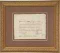 Autographs:Military Figures, [American Revolution]. Connecticut Enlistment Bounty Signed...