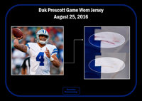 2016 Dak Prescott Game Worn   Unwashed Dallas Cowboys  d8a3247b1