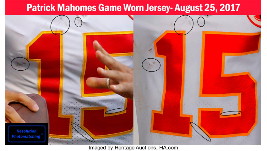 check out 0a666 5b6c2 2017 Patrick Mahomes Game Worn, Signed & Unwashed Kansas ...