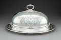 Silver & Vertu:Hollowware, A Large Gorham Silver Meat Platter with Associated Walker & Hall Silver-Plated Cover, Providence, Rhode Island, 20th century...