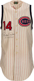 Baseball Collectibles:Balls, 1964 Pete Rose Game Worn & Signed Cincinnati Reds Jersey--Photo Matched!...