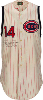 1964 Pete Rose Game Worn & Signed Cincinnati Reds Jersey--Photo Matched!