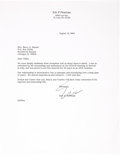 Books, Newman, Eric P. Correspondence with Harry X Boosel. ...