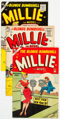 Golden Age (1938-1955):Romance, Millie the Model Group of 5 (Atlas/Marvel, 1954-60) Condition: Average FN.... (Total: 5 )