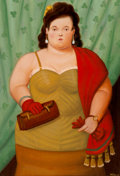 Post-War & Contemporary:Contemporary, Fernando Botero (b. 1932). Woman with her Purse, 2010. Oilon canvas. 31-1/4 x 22 inches (79.4 x 55.9 cm). Signed and da...