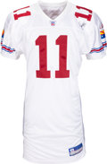 Football Collectibles:Uniforms, 2004 Larry Fitzgerald Game Worn & Signed Arizona Cardinals Rookie Jersey....