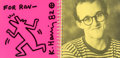 Works on Paper, Keith Haring (1958-1990). Tony Shafrazi Gallery, Exhibition Catalogue, 1982. Felt tip marker on cover page. 9-1/8 x 9-1/...